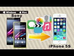 Sony to iPhone 5S Data Transfer Sync All Contacts SMS Videos Music from Sony to iPhone 5S