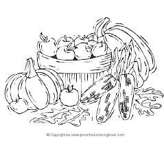 A Basket Full Of Apples Pumpkins And Corn