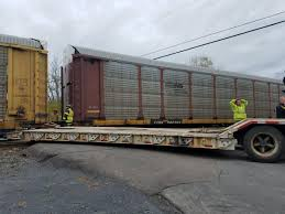 100 Railroad Truck Train Strikes Truck Stuck On Tracks In Cayuga County Town Of Mentz