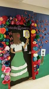Spanish Countries That Celebrate Halloween by Día De Los Muertos Door Decoration By Maranda Stewart