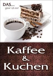 werbeplakat für kaffee und kuchen kaffee und kuchen