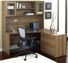 Black Corner Computer Desk With Hutch by Home Office Furniture Desk With Hutch Corner L Shaped Black And