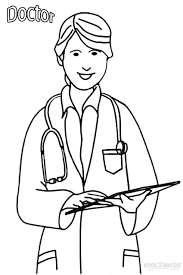 Doctor Coloring Page Pages For Preschool Archives Best To Download