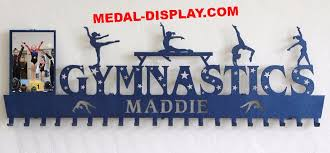 7995 Impressive Gymnastics Medals Holder Personalized With A Name