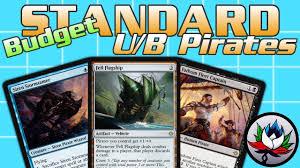 mtg u b pirates budget tempo standard deck tech for magic the