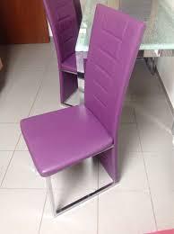 moderner glastisch 4 esszimmerstühle