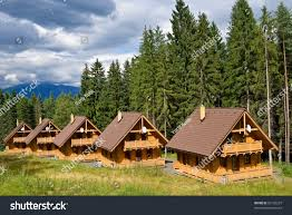100 Small Beautiful Houses Wooden Forest Stock Photo Edit Now 59192227