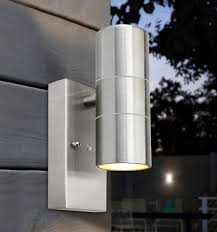 dusk till sensor outdoor up wall light stainless steel