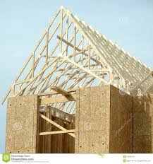 100 House Trusses Roof Framing Residential Construction Stock Photo