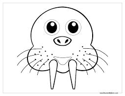 Walrus Face Coloring Sheet