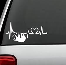 Amazon.com: K1092 Sloth Heartbeat Lifeline Heart Love Decal ... Nobody Cares About Your Stick Figure Family For Jeep Wrangler Free Shipping Bitch Inside Bad Mood Graphic Funny Car Sticker For Stickers Fun Decals Cars Best Paper Printer Tags Matte Truck Personality Warning Boobies Make Me Smile Own At Home Fridge Ideas On Pinterest Bessky 3d Peep Frog Window Decal Graphics Back Off Bumper Humper Tailgate Vinyl Creative Mum Baby Board Waterproof My Guns Auto Prompt Eyes