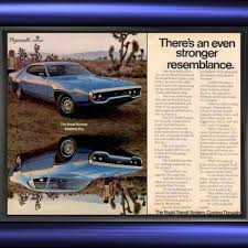 1971 Plymouth Roadrunner Satellite Mirror Image Vintage Ad From West Coast For 1000 On Square