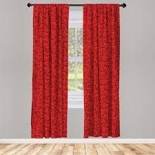 gardine fensterbehandlungen 2 panel set für wohnzimmer schlafzimmer dekor abakuhaus rote wasser regen tropfen kaufen otto