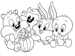 Baby Looney Tunes Coloring Pages To Print