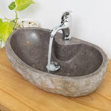naturstein waschbecken ca 40 oval mit hahnloch kaufen