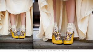 Vintage Inspired Yellow Wedding Shoes