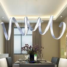 Modern LED Acrylic Chandelier Minimalist Dining Room Lighting Office