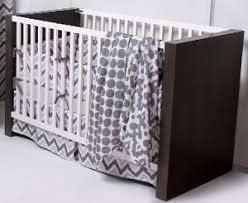 Bacati Crib Bedding by Ikat Grey 4 Crib Set With 2 Muslin Blankets