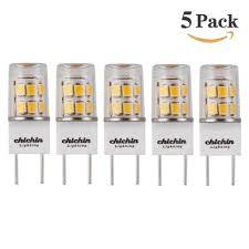 chichinlighting 5 pack led g8 led bulb soft white 2800k 35mm led g8 ba