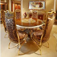 Luxury French Baroque Style Dining Room Sets/ Classic Golden Wood Carving  Round Dining Table With Dining Chair For Six People - Buy Classic Golden ... Standard Fniture Pendwood 5 Piece Round Table Ding Side Chairs Mahogany Chippendale Room Caracole Sterling Reputation Chair Roznin Antique Styles Centimet Decor Details About Set Of 2 Soft Grey Casual Seats Fancy Living Offwhite Sutton House With Pedestal By Bernhardt At Dunk Bright Florence Rectangular Double 9 Spindle Bowback Carmen Franco Spain Luxury And Uk Images Pictures Memory Foam Seat Cushion For Office Covers