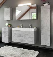 badkombination livono in design grau badmöbel set 7 tlg inkl doppelwaschtisch und led spiegelle 200 x 190 cm