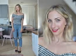 Wednesday Cupcakes And Cashmere Top Agolde Jeans Prada Mules Similar Version Here