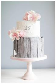 Rustic 25th Anniversary Wedding Cake By Taartjes Van An Anneke