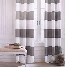 amazon com tommy hilfiger cabana wide stripes curtains 2 panels