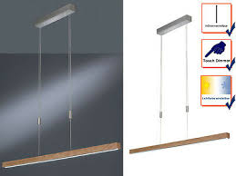 led balkenpendel höhenverstellbar dimmbar design holz eiche esszimmerleuchten ebay