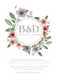 Floral Circle Invitation Set