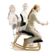 chaise de bureau ergonomique à bascule en tissu et bois thatsit