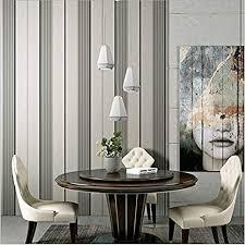 vliestapete grau weiß vertikal gestreift schlafzimmer