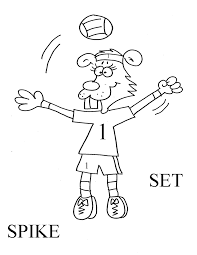 Max At Volleyball Coloring Page