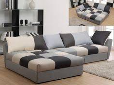 canape d angle original canapé d angle en tissu convertible romane gris angle droit