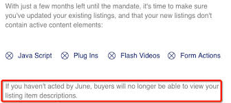 This Specifically Means As From What I Understand Listings Wont Be Removed Such EBay Just Show Your Listing Description Template Etc