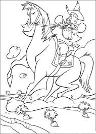 Click To See Printable Version Of Cowboy Is Riding A Horse Coloring Page