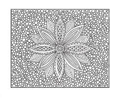 Zentangle Inspired Coloring Page PDF Printable Zendoodle Flower 10