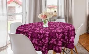 abakuhaus tischdecke kreis tischdecke abdeckung für esszimmer küche dekoration schmetterling abstrakte rosa schmetterlinge kaufen otto