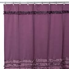 Purple Waterfall Ruffle Curtains by Shower Curtains By Jamie Gold Akbd Caps For The Home