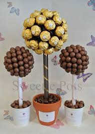 Ferrero Rocher Christmas Tree Diy by Ferrero Rocher Medium And Malteser Small Sweet Candy Trees