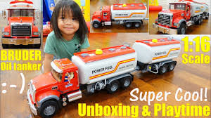 100 Toy Tanker Trucks Childrens TOY TRUCKS New Bruder Truck A MACK Oil Truck