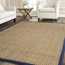 Safavieh Natural Fiber Collection NF114E Basketweave And Blue Summer Seagrass Area Rug 8