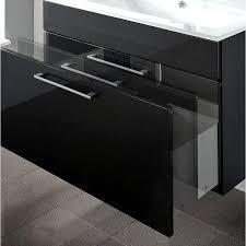 badezimmer waschtisch 90cm mit glas waschbecken weiß heronas 02 hochglanz anthrazit b h t ca 90 5 52 5 55 cm