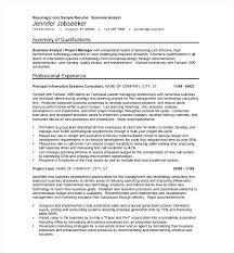 Resume Sample For Business Analyst Awesome Process Nanomedia Example