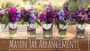 Wedding Trends Mason Jar Arrangements