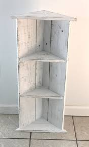 Small White Wood Corner Shelf