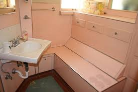 Frp Ceiling Panels Marlite by Noelle U0027s 1930s Bathroom With Pink Panel Walls Retro Renovation
