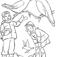 Winter Bird Feeder Coloring Page Pages Sketch