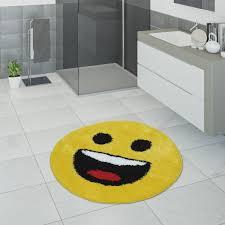 badezimmer teppich lachendem smiley motiv