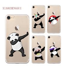 For IPhone 7 7Plus 5s SE 6 6s Plus Phone Case Dabbing Unicorn Dab Cartoon Panda